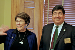 Reps. Pat Colloton, R-Leawood, and Louis Ruiz, D-Kansas City, co-founders of the new House mental health caucus, which held its first meeting Wednesday.