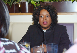 The Rev. Pamaline King-Burns sees too often the consequences of the state's high infant death rate for blacks. She lives and works in northeast Wichita. State officials hope to develop zip-code specific programs to reverse the problem.