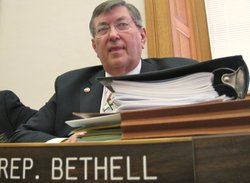 Rep. Bob Bethell, R-Alden, said that the one-page plan for budget reductions released today by SRS raised more questions than it provided answers.