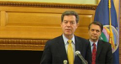 Gov. Sam Brownback and Lt. Gov. Jeff Colyer.