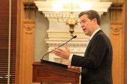 Gov. Sam Brownback during his 2013 State of the State address.
